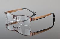 New Mens Sporty Half Rimless Eyeglasses Frames Rx Spectacles Glasses Lightweight