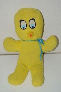 """Tweety Bird Plush Vintage 1970 Rare Original 16"""" Stuffed Animal Warner Bros."""