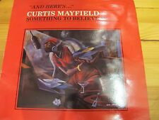 """2394271 FRANCE 12"""" 33RPM CURTIS MAYFIELD """"SOMETHING TO BELIEVE IN"""" EX"""