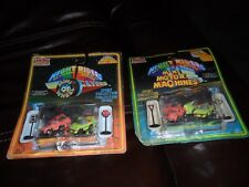 2 1988 Imperial Diecast Glo Dark Mini Wheel Flyers Motor Machines Pull Back Cars