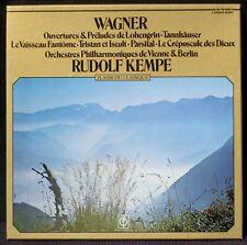 Wagner Ouvertures et préludes Kempe Plaisir du classique mono 2 x LP & BX NM