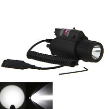 Red Dot Laser CREE LED Flashlight Torch Sight Scope Rifle/Gun Hunting Mount Rail