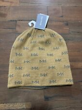 MICHAEL KORS MK REPEAT LOGO MEN'S KNIT BEANIE, CAMEL: STYLE #33489 - ONE SIZE