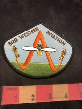 Airplane Company Advertising Patch MID WESTERN AVIATION 86I4
