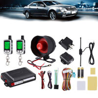 Car Alarm System Keyless Entry&LCD  2-Way Remote Anti-theft Security Control Kit