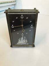 Antique JAEGER LECOULTRE Marina Musical Alarm Clock, Music Box, 8 day