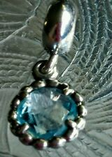 Authentic Pandora Cool Breeze Charm Bead Dangle Blue Topaz 791021BTP 925ALE