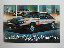 1979 Indianapolis 500 Ford Mustang Official Indy 500 Pace Car Post Card Promo