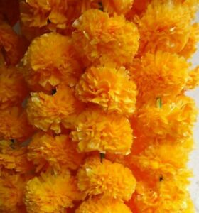 5 Artificial marigold Flower strings party decoration 4 feet 8 inch USA seller