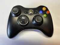 Black Wireless OEM Microsoft Controller for Xbox 360 Console Video Game