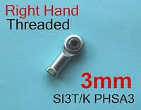 5pcs Right 3mm SI3T/K PHSA3 SI3P/K NHS3 Threaded Female Rod End Joint Bearing