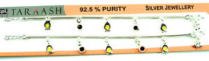 Pure 925 Solid Sterling Silver Kids Children Baby Girl Gift Anklet Payal - 1279