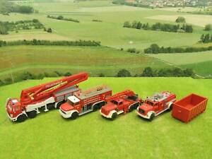 Wiking etc H0 Konvolut Feuerwehrfahrzeuge 4 Stk  (CA) A0843