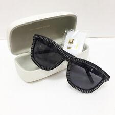 [Alexander Wang x Linda Farrow] Unique Zipper Black Silver Sunglasses New in Box