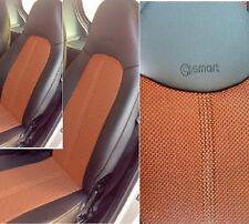 1+1 Autositzbezüge, Passt auf SMART ROADSTER (452) Sitze, SCHWARZ-ORANGE