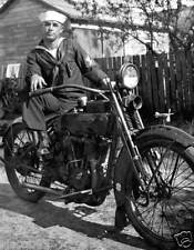 1925 REPRINT PHOTO OF SAILOR ON HARLEY-DAVIDSON MOTORCYCLE, ST. PETERSBURG, FL
