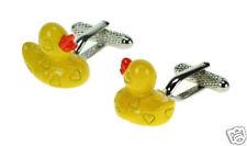 Classic Yellow Plastic Duck Cuff Links Cufflinks 12143