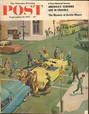 SEPT 17 1955 SATURDAY EVENING POST magazine BUSY INTERSECTION