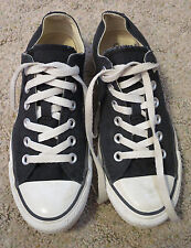 Converse All Stars Black Canvas Low Top Fashion Sneakers Womens Shoes 7  Mens 5