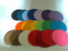 Spellbinders Die cut lacey circles various colours - 4 sets 20 pieces
