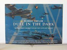Duel in the Dark Me110 RAF Lancaster Bomber Robert Taylor Aviation Art Brochure