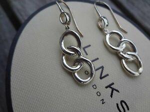 BNIB Genuine LINKS OF LONDON Silver SIGNATURE Drop Earrings £130