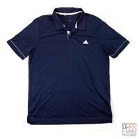 Adidas Golf Mens L Short Sleeve Polyester Polo Shirt Regular Fit Blue