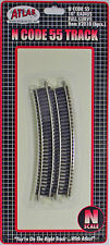 """Atlas Part #2010 N Scale Code 55 10"""" Curved Track (set of 6)"""