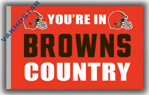 Cleveland Brown Football Memorable Flag BROWNS COUNTRY 90x150cm3x5ft best banner