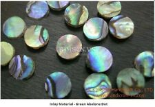 Green abalone Dots - Size 5 x 1.5 mm (100 pcs)