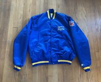Los Angeles Rams Vintage 90's Starter Satin Jacket Mens XL EUC Rare NFL