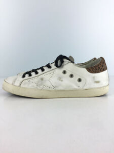 Authentic GoldenGoose ARCHIVE Leather White × Leopard Sneakers EU:41 US:11