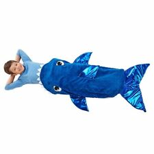 Plush and Playful Character Throw Blanket Shark Fish Tail Fits adults too