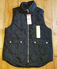 NWT womens Black WOOLRICH quilted puffer down vest size Medium M $55