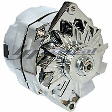 CHROME HIGH OUTPUT ALTERNATOR FOR CHEVY CHEVROLET GM GMC JEEP 3-WIRE 200 AMP