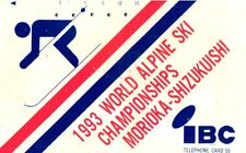 *352 SCHEDA TELEFONICA PHONECARD USATA GIAPPONE JAPAN WORLD ALPINE SKI