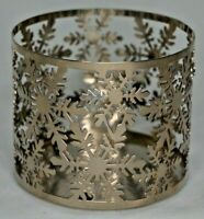Bath & Body Works Snowflakes 3 Wick Candle Sleeve Holder