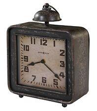 635- 194  COLLINS  - NEW HOWARD MILLER SQUARE ANTIQUE BLACK MANTEL CLOCK  635194