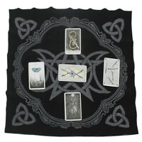 Triple Moon Pentagram Altar Tarot Cloth Divination Cards Wicca Velveteen 2020