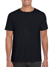Gildan 64000 Plain Softstyle Men's Black Summer T-shirt Adults *** Free Post ***
