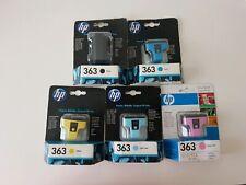 Genuine HP 363 Ink Cartridges x 5 Black Cyan Yellow Light Cyan & Light Magenta