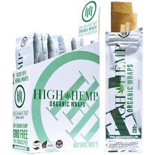 High Hemp Organic Wraps Full Box 25 pk (2 Wrap) Pouches 50 Wraps - SAME DAY SHIP