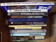11 Eisenbahn Bücher, Deutsche Reichsbahn, Dampf-Lokomotiven, Eisenbahnen..