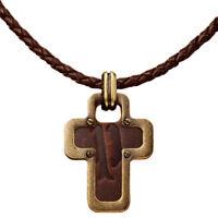 Police Soul Necklace PJ21120PLG-03 Leather