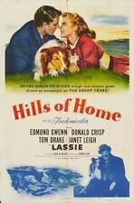 THE HILLS OF HOME Movie POSTER 27x40 B Edmund Gwenn Janet Leigh Lassie Tom Drake