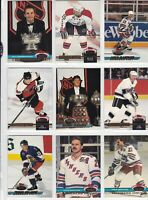 VINTAGE TOPPS STADIUM CLUB HOCKEY LOT OF <33> GRETZKY HULL LEMIEUX ROY BOURQUE