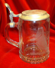 ALWE Glass Beer Stein w/ Sailing Scene - Made in Germany