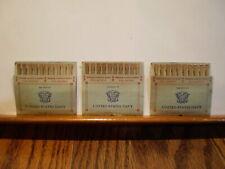 Very Rare Ww Ii Us Navy Pull Matches 3 Complete Pak Packs