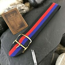 20mm Perlon 1960s Vintage Watchband Eulit Military Diver Regimental nos Strap