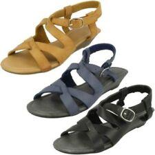 Buckle Wedge Strappy Sandals & Flip Flops for Women